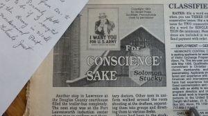 Serialized novel in Mennonite Weekly Review