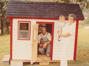 GrandpaAndGrandmaandMichelleInPlayhouse