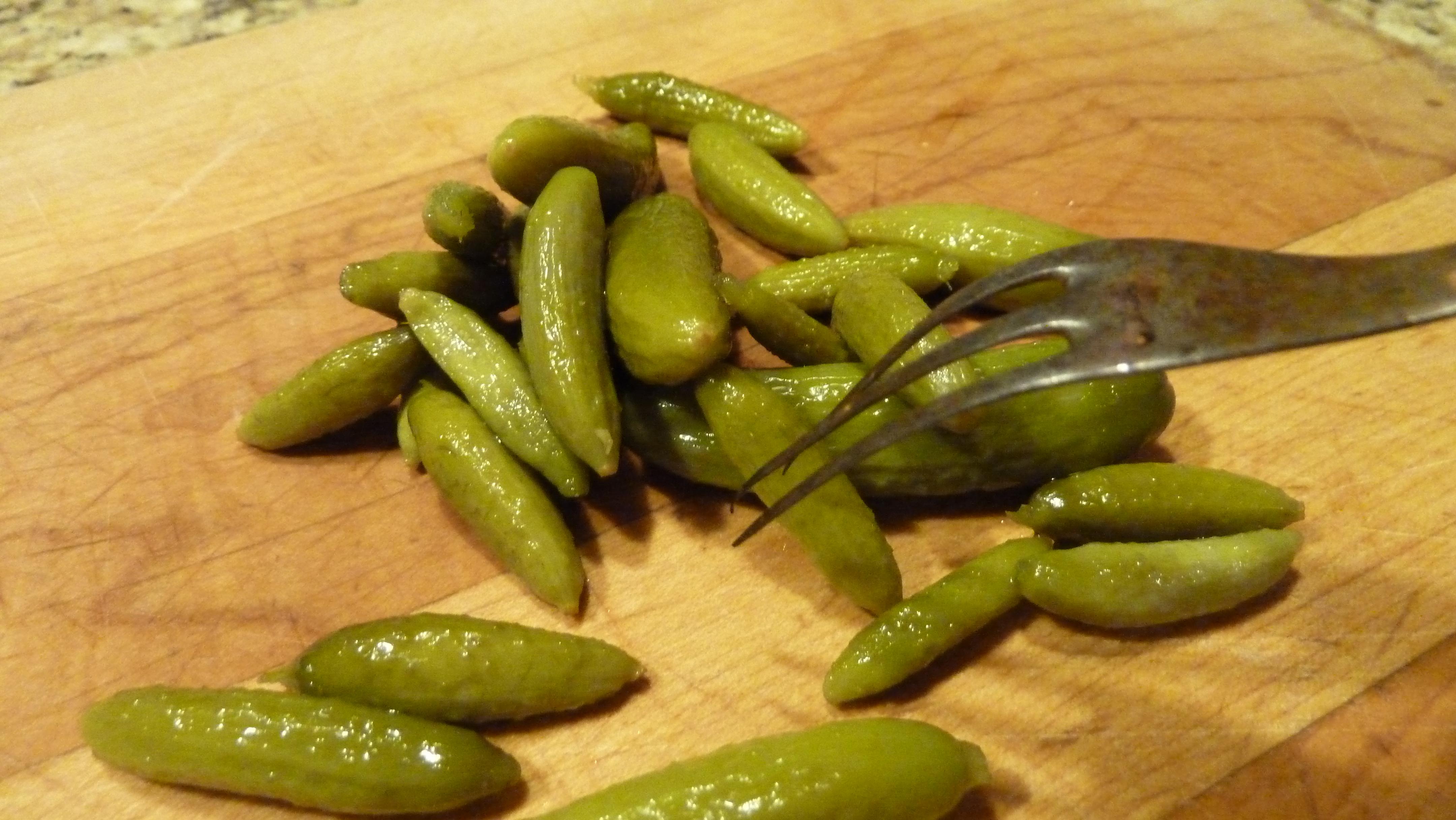 midget sweet pickle gherkin