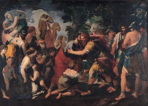 Image result for free bible story art jacob and esau reunite